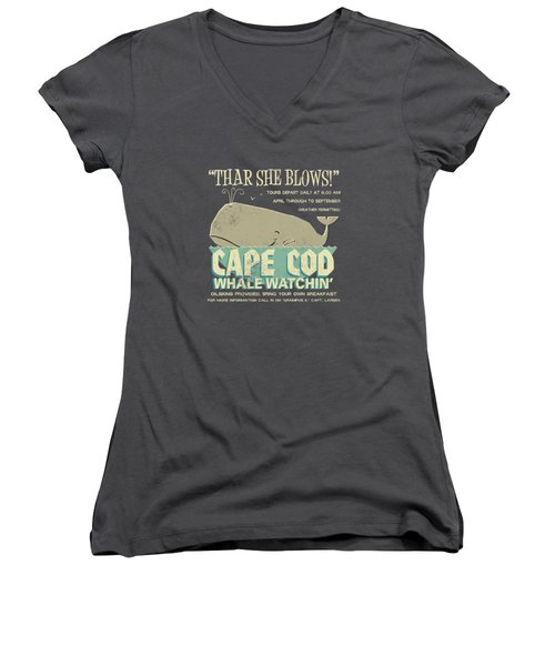 Thar She Blows Women's V-Neck (Athletic Fit)