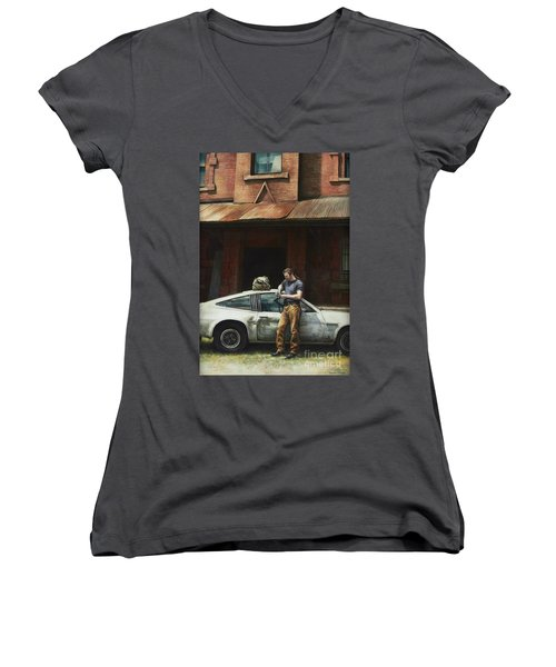 That Fleeting Moment Captured Women's V-Neck T-Shirt (Junior Cut) by Yvonne Wright