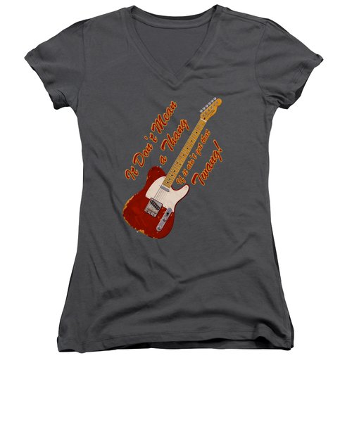 That Twang T-shirt Women's V-Neck T-Shirt (Junior Cut) by WB Johnston