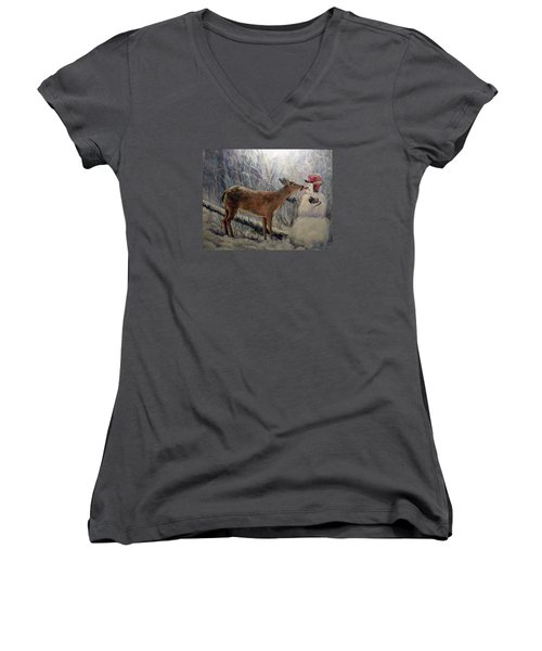That'll Be Mine Women's V-Neck T-Shirt (Junior Cut) by Donna Tucker