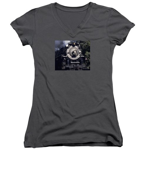 Women's V-Neck T-Shirt (Junior Cut) featuring the photograph The 765 by Jim Lepard
