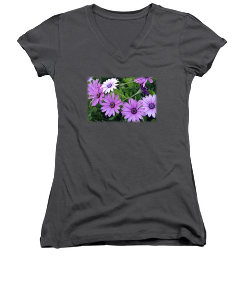 The African Daisy T-shirt 4 Women's V-Neck (Athletic Fit)