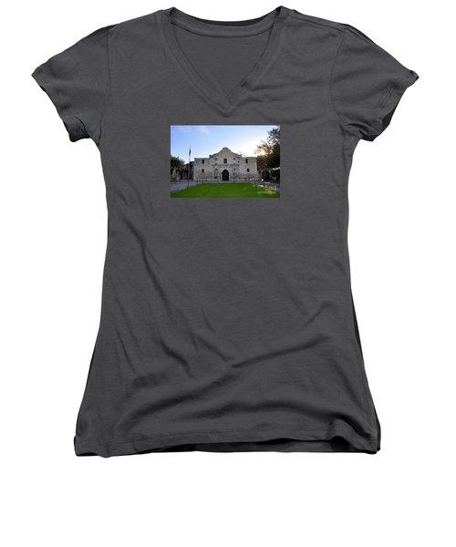 The Alamo Women's V-Neck T-Shirt