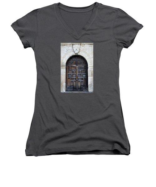 The Alamo Door Women's V-Neck T-Shirt