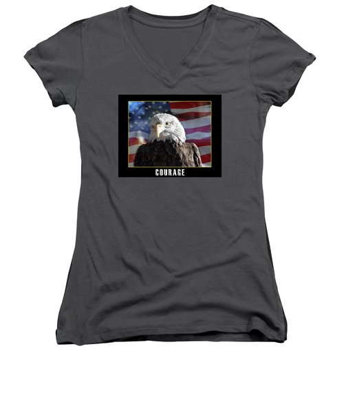 The American Bald Eagle Women's V-Neck (Athletic Fit)