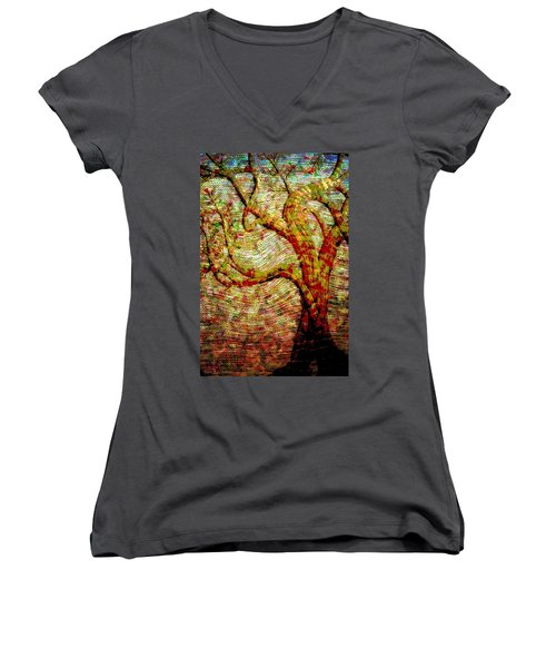 The Ancient Tree Of Wisdom Women's V-Neck (Athletic Fit)