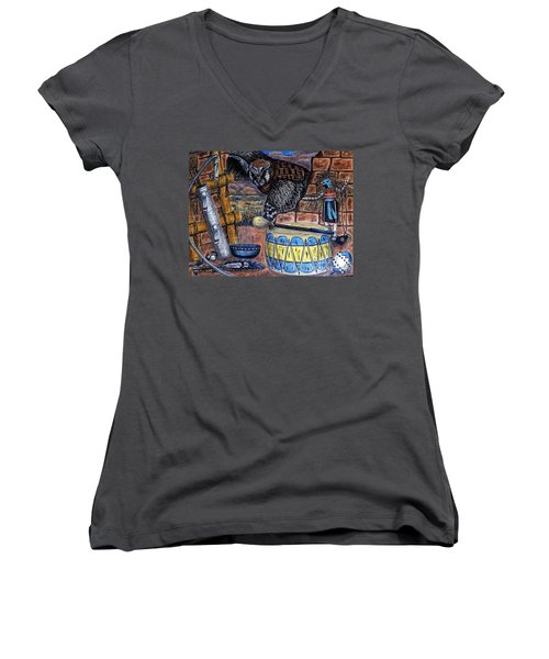 The Answer Comes Women's V-Neck T-Shirt