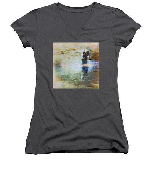 The Artist As A Boy Women's V-Neck T-Shirt