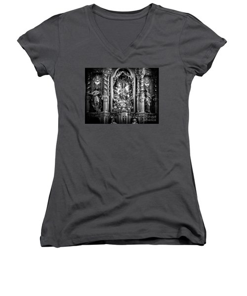 The Assumption Of Mary Pilgrimage Church Women's V-Neck