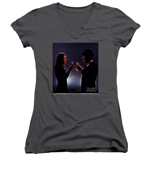 Toasting The Avengers Women's V-Neck (Athletic Fit)