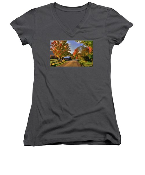 The Barn At The Bend Women's V-Neck