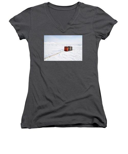 The Barrels Women's V-Neck T-Shirt (Junior Cut) by Nick Mares