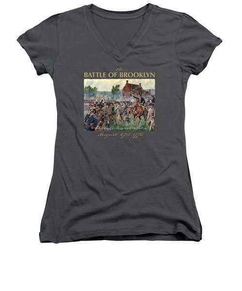 The Battle Of Brooklyn Women's V-Neck (Athletic Fit)