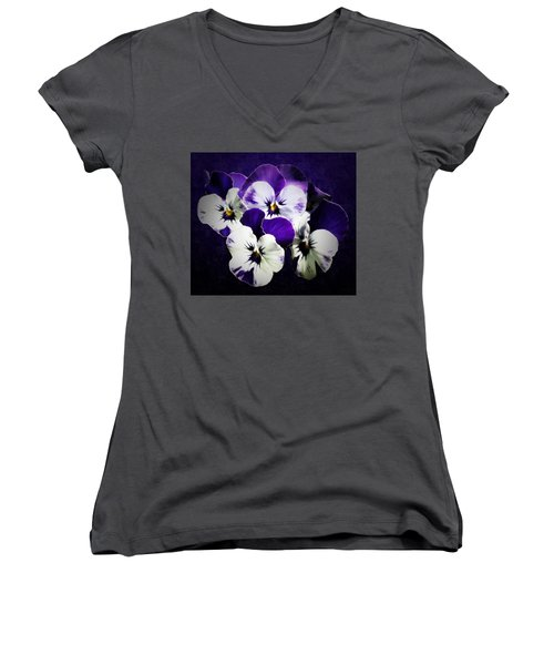 The Beauties Of Spring Women's V-Neck T-Shirt (Junior Cut) by Gabriella Weninger - David