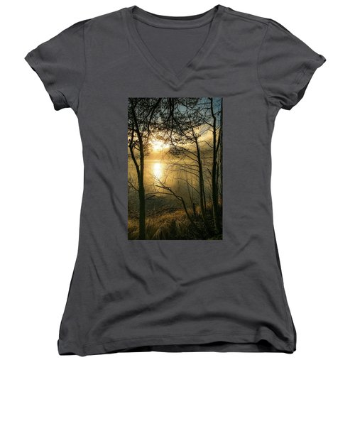 The Beauty Of Nature Women's V-Neck T-Shirt (Junior Cut) by Rose-Marie Karlsen