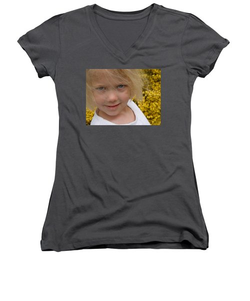The Beauty Of Spring Women's V-Neck T-Shirt (Junior Cut) by Dan Whittemore