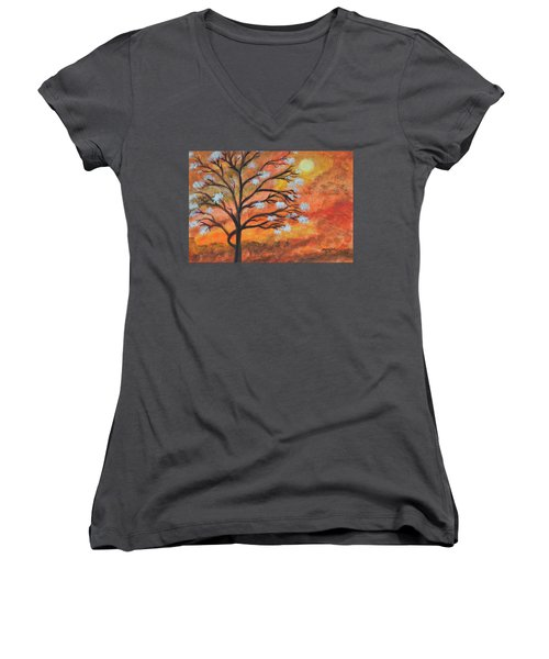 The Blossom Women's V-Neck T-Shirt