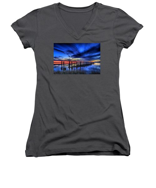 The Blue Hour Comes To St. Marks #1 Women's V-Neck