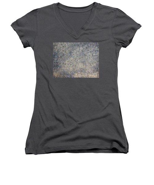 The Blue Women's V-Neck T-Shirt (Junior Cut) by Rachel Hannah