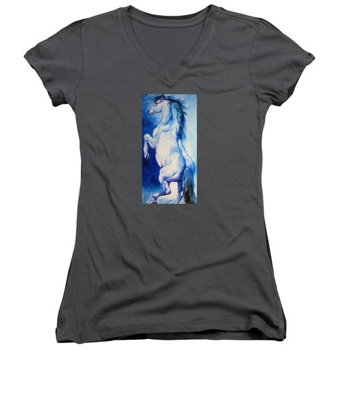 The Blue Roan Women's V-Neck (Athletic Fit)