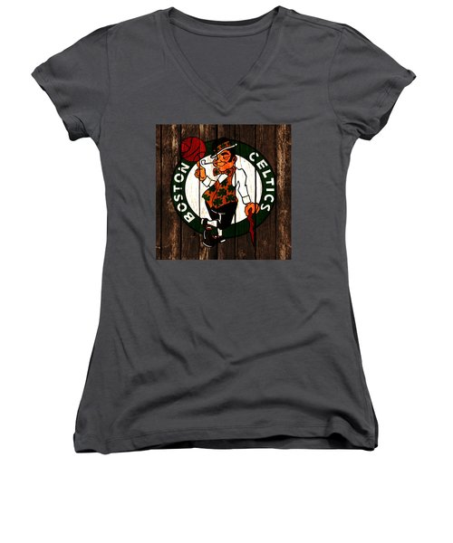 The Boston Celtics 2d Women's V-Neck T-Shirt