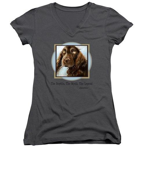 The Boykin, The Myth, The Legend Women's V-Neck T-Shirt