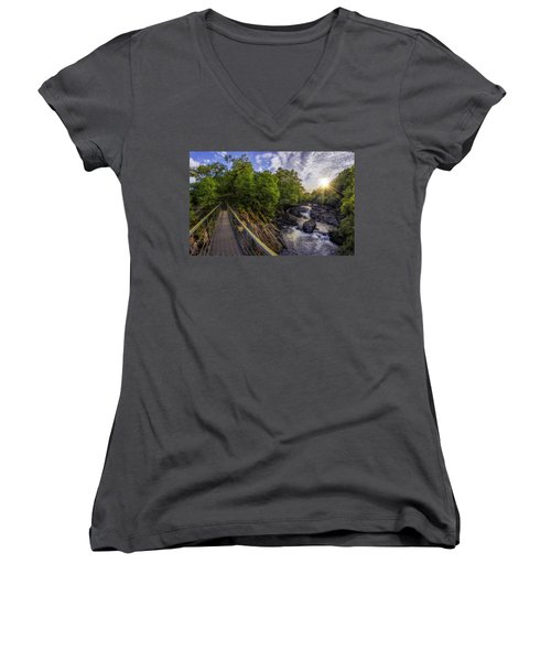 The Bridge To Summer Women's V-Neck T-Shirt