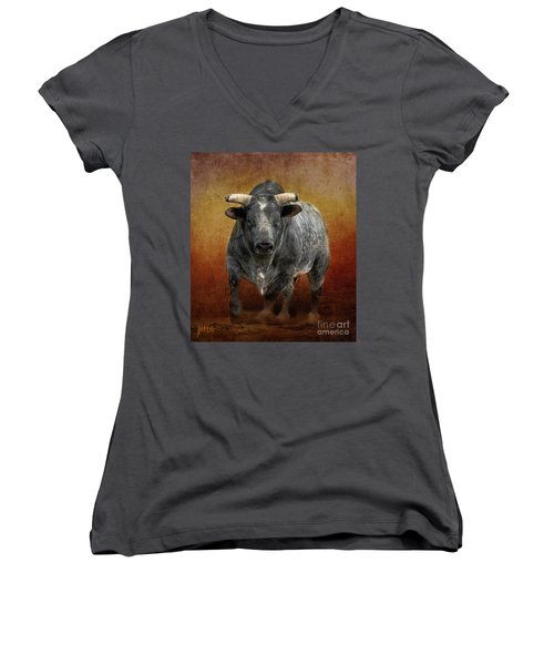 The Bull Women's V-Neck (Athletic Fit)