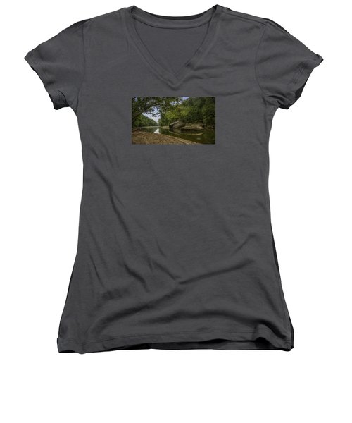 The Burbuese River Women's V-Neck (Athletic Fit)