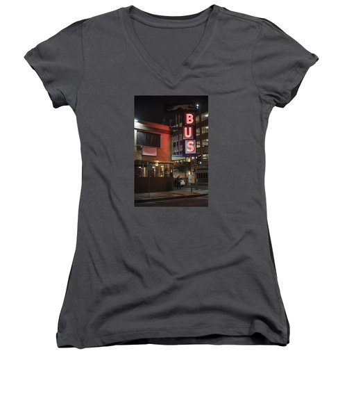 The Bus Stop Women's V-Neck (Athletic Fit)