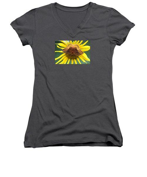 The Butterfly Effect Women's V-Neck T-Shirt (Junior Cut) by Tina  LeCour