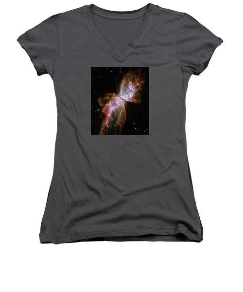 The Butterfly Nebula  Women's V-Neck T-Shirt