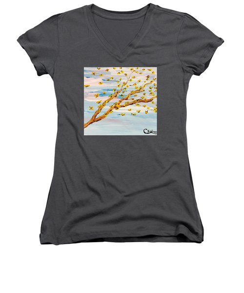 The Butterfly Tree Women's V-Neck (Athletic Fit)