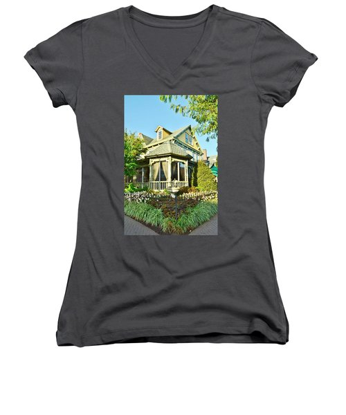 The Buttery Restaurant In Lewes Delaware Women's V-Neck (Athletic Fit)