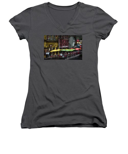 The Cafe At Night Women's V-Neck (Athletic Fit)