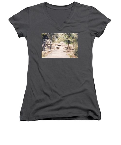 The Call Of Morning Women's V-Neck T-Shirt