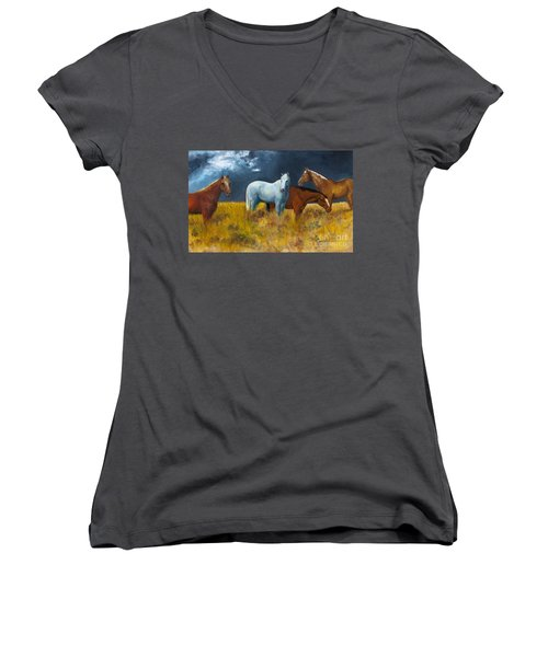 The Calm After The Storm Women's V-Neck (Athletic Fit)