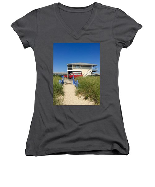 The Canadians Are Here Women's V-Neck (Athletic Fit)