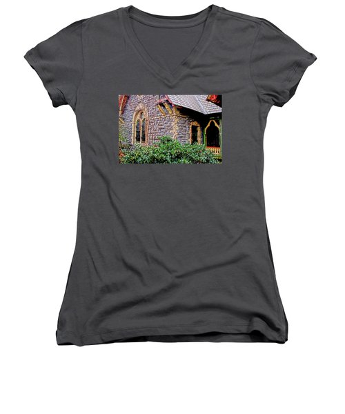 Central Park Dairy Cottage Women's V-Neck T-Shirt