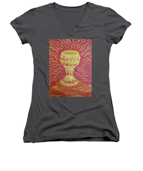 The Chalice Or Holy Grail Women's V-Neck