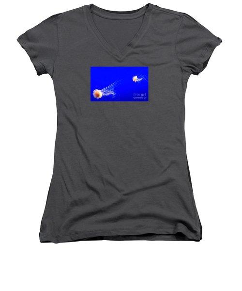 The Chase Women's V-Neck T-Shirt (Junior Cut) by Vanessa Palomino