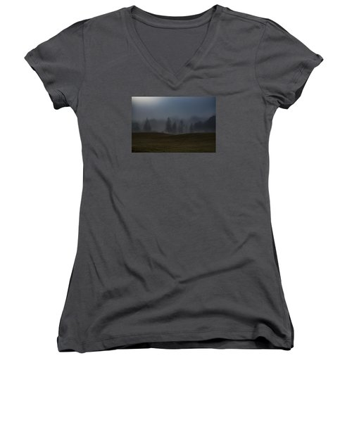 Women's V-Neck T-Shirt (Junior Cut) featuring the photograph The Chosen by Annette Berglund