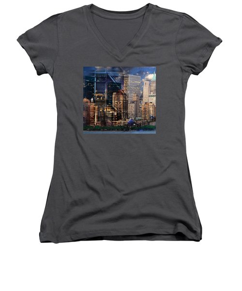 The City Women's V-Neck (Athletic Fit)
