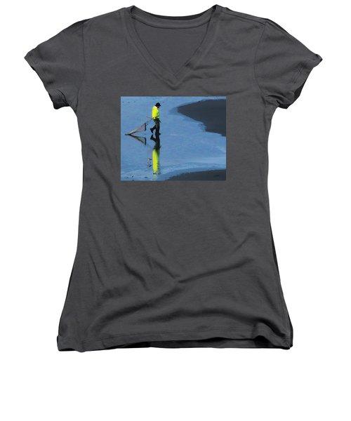 The Clammer Women's V-Neck T-Shirt