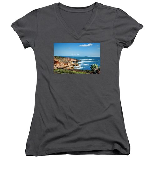 The Cliffs Of Point Loma Women's V-Neck T-Shirt