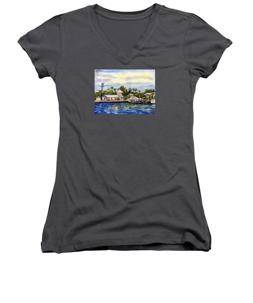 The Coast Of Nassau Women's V-Neck (Athletic Fit)