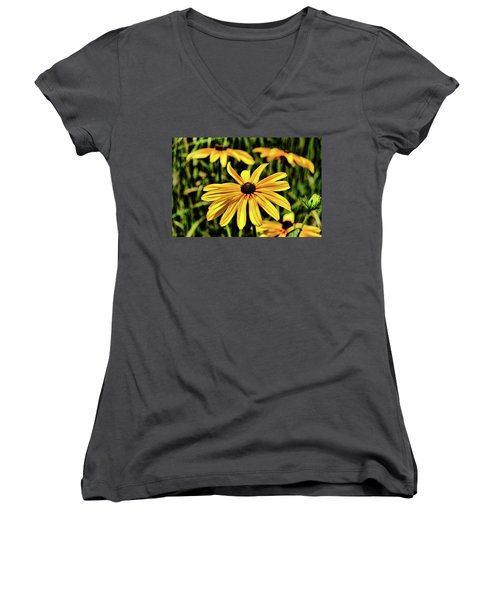 Women's V-Neck T-Shirt featuring the photograph The Colors And Details by Monte Stevens