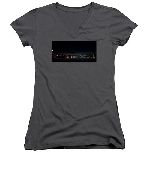 The Colors Of A Nightly Bridge Women's V-Neck