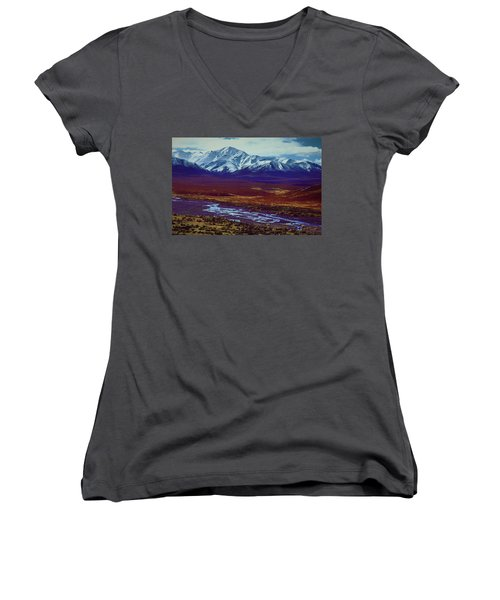 The Colors Of Toklat River Women's V-Neck (Athletic Fit)