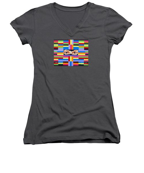 The Colour Of Life Women's V-Neck T-Shirt (Junior Cut) by Ragunath Venkatraman